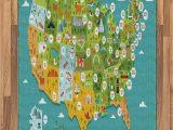 United States Map area Rug Amazon Lunarable Usa area Rug Cartoon Style Map Of