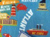 United States Map area Rug Kids Usa Rug United States Educational Map