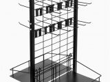 "Used area Rug Display Racks for Sale Rolling Retail Display Merchandising Rack Store Fixture 66"" Tall X 28"" Footprint Includes 50 Peg Hooks and 4 Shelves by Brybelly"