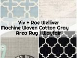 Viv and Rae area Rugs Viv Rae Welliver Machine Woven Cotton Gray area Rug