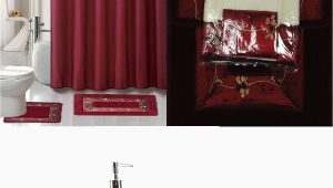 Walmart Red Bath Rugs 22 Piece Bath Accessory Set Burgundy Red Bath Rug Set Shower Curtain & Accessories Walmart