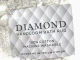 Wamsutta Bath Rug 24 X 40 Diamond Handloom Bath Rug Cotton In White 24 In X 40 In