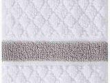 Wamsutta Cotton Jacquard Bath Rug Amazon Wamsutta Hotel Border Fingertip towel In Grey