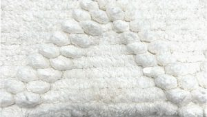 Wamsutta Ultimate Plush Bath Rug Diamond Handloom Bath Rug Cotton In White 24 In X 40 In