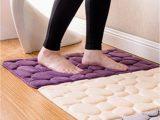Water Absorbent Bathroom Rugs Pebble Design Floor Mat Thickened Water Absorbent Non Slip Bathroom Rug Home Entrance Carpet