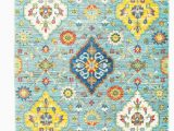 Wayfair Blue and Yellow Rug Mansi Floral Baby Blue Yellow area Rug