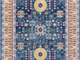 Wayfair Blue and Yellow Rug Mystic Modern Vintage Boho oriental Blue Yellow area Rug