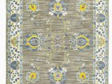 Wayfair Blue and Yellow Rug Saige oriental Bright Yellow Gray Cream Blue area Rug