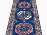 "Wayfair Blue Runner Rugs E Of A Kind Hand Knotted orange Blue 2 8"" X 9 7"" Runner Wool area Rug"