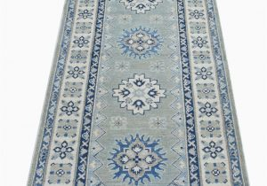 "Wayfair Blue Runner Rugs E Of A Kind Runner Majzara Hand Knotted 2 7"" X 6 4"" Gray area Rug"