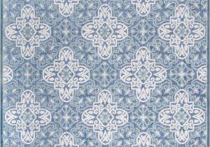 Wayfair Rugs Blue and White Raeburn Power Loom Blue White Indoor Outdoor Use Rug