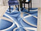 Weisman Red Blue area Rug Abstract Swirls Blue soft area Rugs In 2020