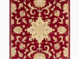 Weisman Red Blue area Rug Minster oriental Handmade Tufted Wool Red area Rug