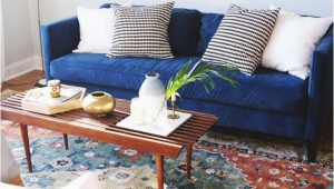 What Color Rug with Blue Couch Design Updates In the Living Room Annabode