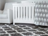 White area Rug for Nursery Inspired Fashion Finds Gray & White Shag Trellis area Rug