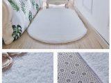 White area Rug for Nursery Qdtd Rug Oval soft Non Slip area Rug Shaggy Cute Nursery