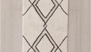 White Bath Rug Runner southwest Runner Bath Mat