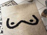 White Bath Rugs Cotton Black & White Booby Cotton Bath Mat