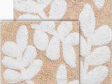 White Cotton Bathroom Rugs Chesapeake Merchandising 2 Piece Monte Carlo Bath Rug Set Taupe and White