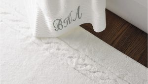 White Cotton Bathroom Rugs Egyptian Cotton Skid Resistant Bath Rug