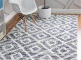 White Fluffy area Rug 8×10 Gray 8 X 10 athena Shag Rug
