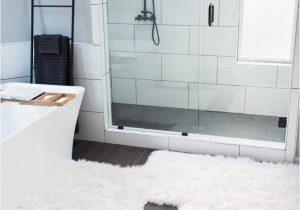 White Fur Bathroom Rugs Bathroom Makeover the Miller Affect