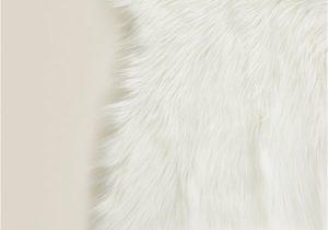 White Fur Bathroom Rugs White Faux Fur Rug
