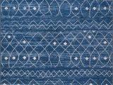 White Rug with Blue Pattern Moroccan Trellis Diamond Pattern area Rug Blue White
