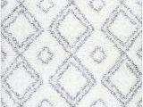 White Shag area Rug 8×10 Cozy soft and Plush Moroccan White Shag area Rugs 5 Feet by 8 Feet 5 X 8
