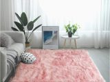 White soft Fluffy area Rug Ojia Deluxe soft Fuzzy Fur Rugs Faux Sheepskin Shaggy area Rugs Fluffy Modern Kids Carpet for Living Room Bedroom sofa Bedside Decor 3 X 5ft Pink