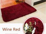 Wine Colored Bathroom Rugs Anti Slip Bath Mat for toilet Colorful Bathroom Carpet for Decor Bathroom & Kitchen Carpet Bathroom Carpet for toilet Door Mats