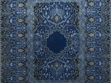 Wool and Silk area Rugs Qm 401 Medium Cobalt Me Val Blue