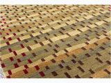 Wool and Silk Blend area Rugs Contemporary Custom Made Modernist Wool Silk Blend