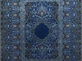 Wool area Rugs Blue Qm 401 Medium Cobalt Me Val Blue