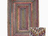 Wool area Rugs Made In Usa Multi Medley Braided Reversible Wool Rug Usa Made 5 X 8