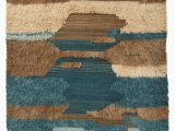 Wool or Cotton area Rugs Parinaaz Hand Knotted Wool Cotton Blue Beige Brown area Rug