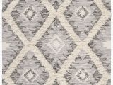 Wool or Cotton area Rugs Parinaaz Hand Knotted Wool Cotton Gray area Rug