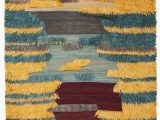 Wool or Cotton area Rugs Parinaaz Hand Knotted Wool Cotton Yellow Brown Gray area Rug