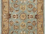 "Wool or Cotton area Rugs Safavieh Heritage Collection Handcrafted Traditional oriental Blue and Gold Wool area Rug 2 3"" X 4"