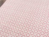 Wool or Cotton area Rugs Sintra Pink Cotton Wool High Low Pile area Rug