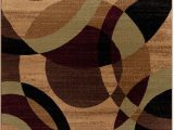 World Rug Gallery Modern Circles area Rug Brown & Beige Modern Circles Rug