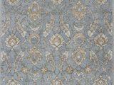 Yadira Tufted Wool area Rug Samara Handmade Tufted Wool Slate Blue Beige Taupe area Rug