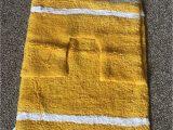Yellow and Grey Bath Rug Mustard Bath Mat and Pedestal Set