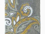 Yellow and Grey Bath Rug Threshold Plush Gray Yellow Paisley Bath Rug Skid Resist Throw Mat 20×34 Walmart Com