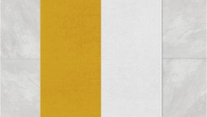 Yellow and White Bathroom Rug Mustard Yellow and White Striped Bath Mat