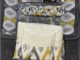 Yellow Bath towels and Rugs 18 Piece Bath Rug Silver Grey Gold Print Bathroom Rugs Shower Curtain Rings and towels Sets Keena Yellow