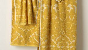 Yellow Bath towels and Rugs Perpetual Blooms towels