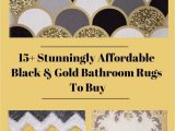 Yellow Gold Bathroom Rugs 15 Stunningly Affordable Black and Gold Bathroom Rugs to Buy