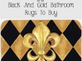 Yellow Gold Bathroom Rugs 15 Stunningly Affordable Black and Gold Bathroom Rugs to