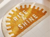 Yellow Gold Bathroom Rugs Rise and Shine Bath Mat